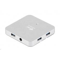 iTec USB 3.0 Hub 4-Port Metal s napájecím adaptérem