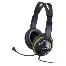 GENIUS sluchátka s mikrofonem HS-400A, černozelená