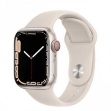 Apple Watch Series 7 Cell, 41mm Starlight/Starlight SportBand