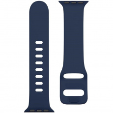 Tactical 790 Silikonový Řemínek s Přezkou pro Apple Watch 1/2/3/4/5/6/SE 38/40mm Night Blue