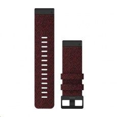 Garmin řemínek pro fenix6X - QuickFit 26, nylonový, červený, černá přezka