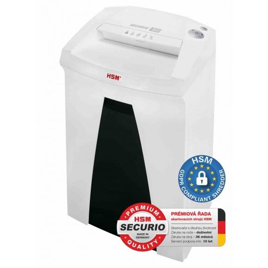 HSM skartovač Securio B22 (řez: Kombinovaný 3,9x30mm   vstup: 240mm   DIN: P-4 (3)   papír, sponky, plast. karty )