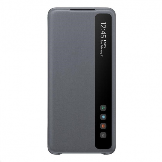 Samsung pouzdro Clear S-View EF-ZG985CJE pro Galaxy S20+, šedá