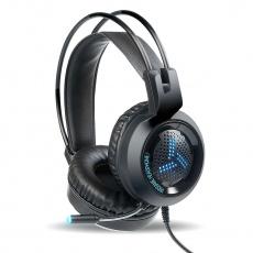 OMEGA herní sluchátka VARR Gaming Colorful Breathing Headset, USB, 2x3.5, black/černá
